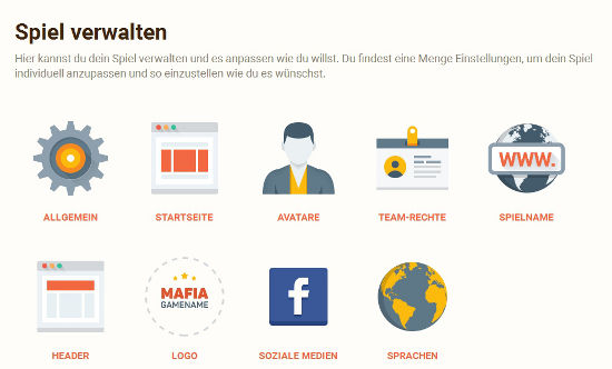 Mafia Browsergame mit Baukasten konfigurieren